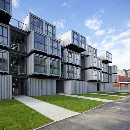 Shipping Container Designs: Student Dormitory Built Using Shipping Containers