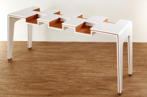 Slotted Table For Books Exhibi-Table