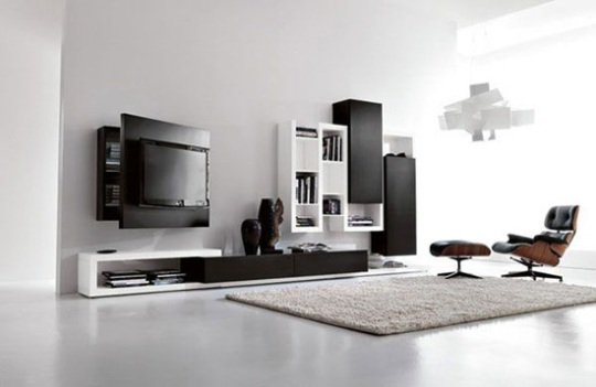 Living Room Without Wasting An Inch Of Extra Space Beside Hidden Cabinet This Wall Mounted Unit Has A Very Modern And Stylish Look