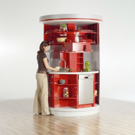 Circle Kitchen For Small Spaces By Compact Concepts