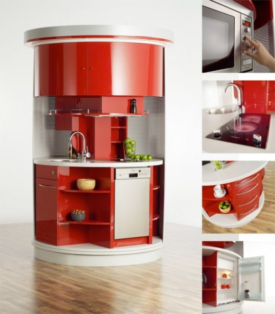 Circle kitchen for small spaces by compact concepts - Kitchen sets for small spaces concept ...