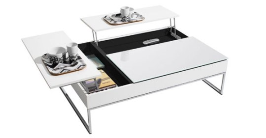 modern coffee table with storage by bo concept. Black Bedroom Furniture Sets. Home Design Ideas