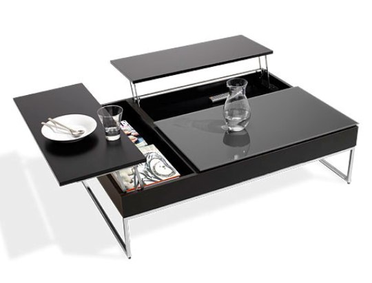 modern coffee table with storagebo concept