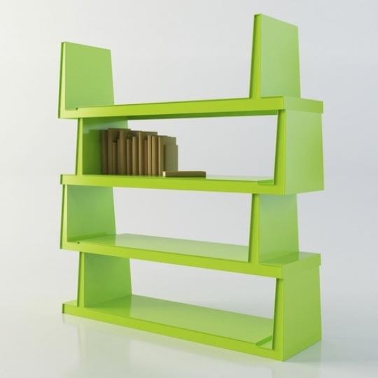 Colorful Book Room: Steckbar Modern Colorful Book Shelf