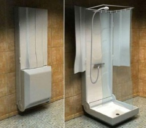 Practical Folding Shower For Small Bathrooms By Supiot