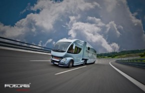 Luxury Caravan With Full Size Sports Car Garage From Futuria