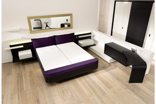 Modern bedroom sleeping collection mioletto from huelsta for Dressing unit design