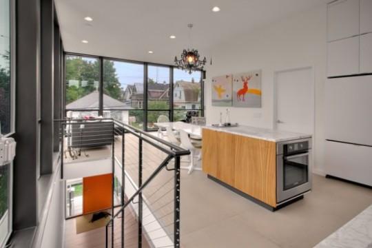 Tight Living Room Plus Kitchen Design