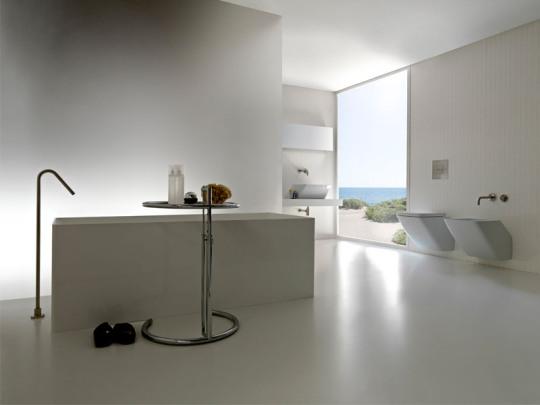 Minimalistic and cozy modern bathroom designs from colacril for Modern minimalist bathroom