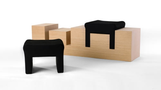Original And Unusual Design 2 Stools By Nir Meiri