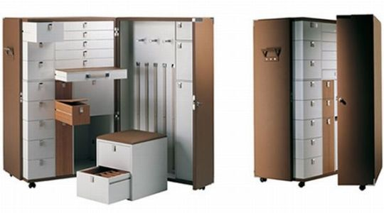 Compact Bedroom Storage Unit By Poltrona Frau