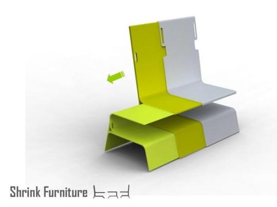 smart furniture design. design making it possible to place other useful items when not in use required just slide out the set accommodate two persons and a table smart furniture t