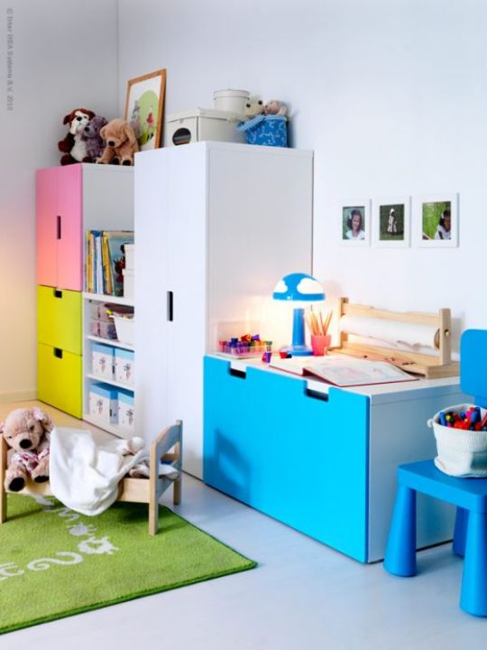 kid 39 s room storage unit stuva from ikea. Black Bedroom Furniture Sets. Home Design Ideas