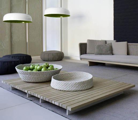 Trendy Outdoor Furniture: Colorful Living Room Furniture Collection By Paola Lenti