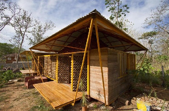 bamboo house side view by benjamin garcia saxe