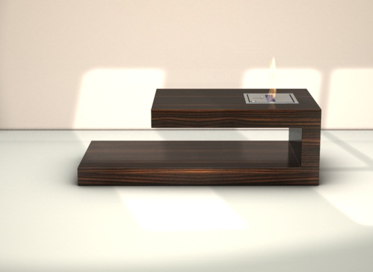 brown coffee table fire place