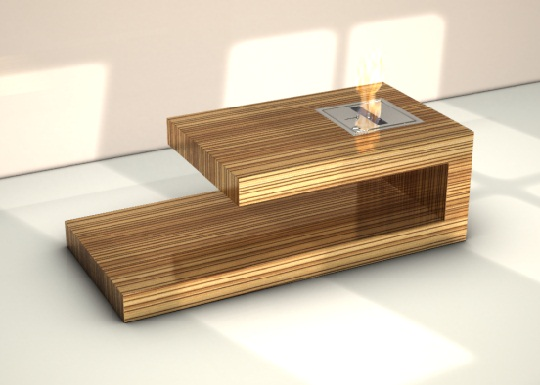 Coffee Table With Built In Fire Place By Axel Schaefer - Fire-coffee-table-by-axel-schaefer