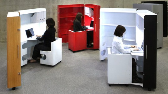 Foldaway Office Furniture From Kenchikukagu
