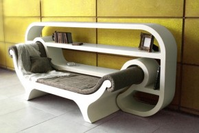 Reading Corner – A Combination Of Lounge Chair And Rack System
