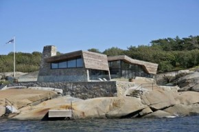 Rock Blending Summer House In Vestfold, Norway By JVA