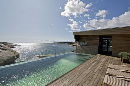 Rock Blending Summer House In Vestfold Norway By JVA
