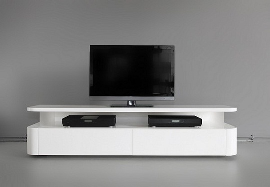 Sleek and functional tv audio unit by ronald knol for Meuble audio ikea