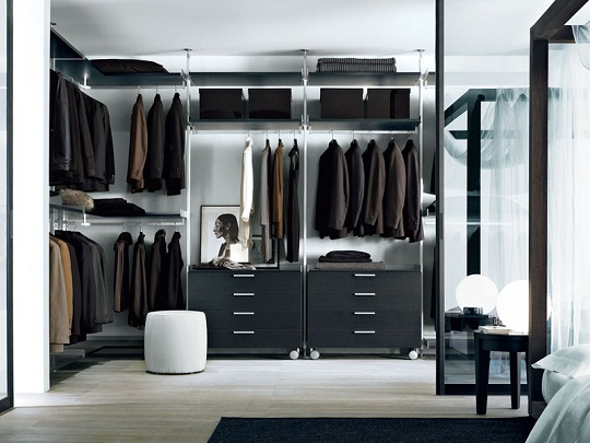 Modern Walk In Closet Zenit From Rimadesio
