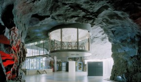Old Bomb Shelter Converted Into Commercial Office In Stockholm