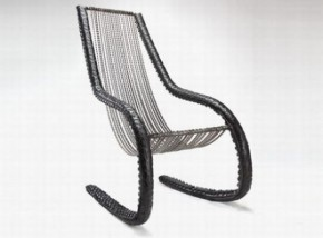 Unique Rocking Chair Made From Recycled Bicycle Chains And Tires