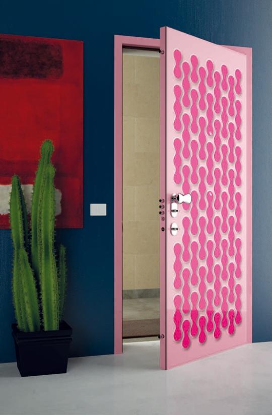 Sensunels Futuristic And Colorful Interior Door