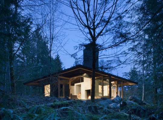 Compact river cabin in washington by olson kundig architects for River cabin plans