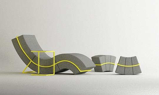 Flexible curve frame sofa by cho hyung suk design - Sofas de descanso ...