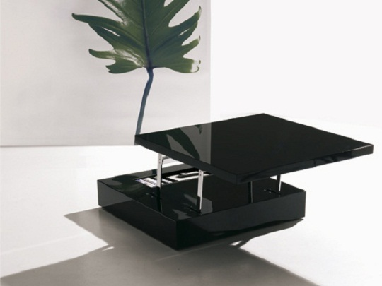 Flat Is A Versatile Coffee Table With Hidden Storage Designed By Italian Furniture Company Ozzio This Has Two Portions