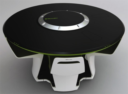 All in one futuristic compact kitchen by petr kubik for Futuristic dining table