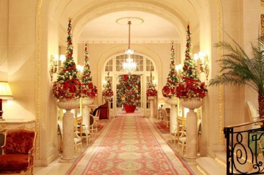 with magnificent christmas tree in the lobby the ritz hotel becomes more magical at christmas time check out the pictures of the decoration of hotel ritz
