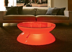 Multi-Color LED Lounge Cum Coffee Table By Moree