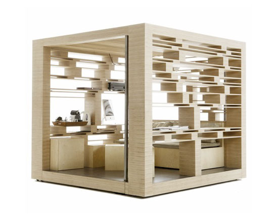 Compact Home Office cube by Atelier 1