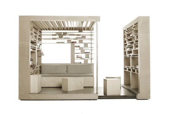 Compact Home Office cube by Atelier 2