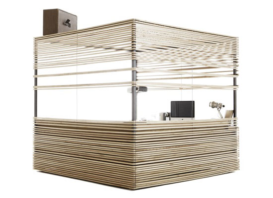 Compact Home Office cube by Atelier 6