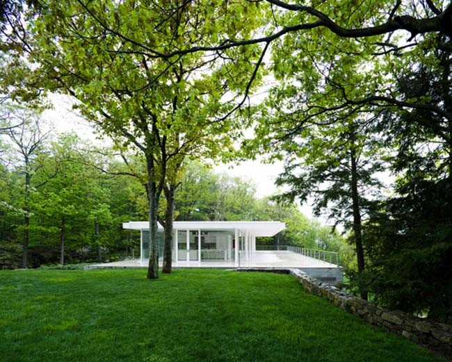 Olnick Spanu House exterior green view 2
