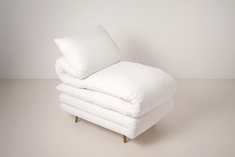 Sleepy Chair Made from mattresses by Daisuke Motogi 1