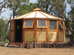 Portable Wooden House - Turtleback Nomadic Yurts