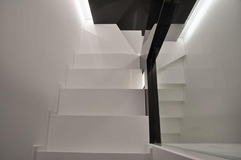 Modern Apartment staircase design by Jovo Bozhinovski