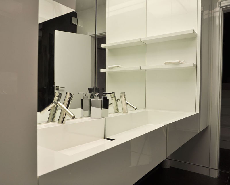 Modern Apartment wash basin design