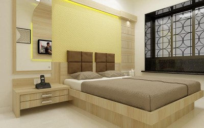 Elegant Bedroom Design With Cool Colors