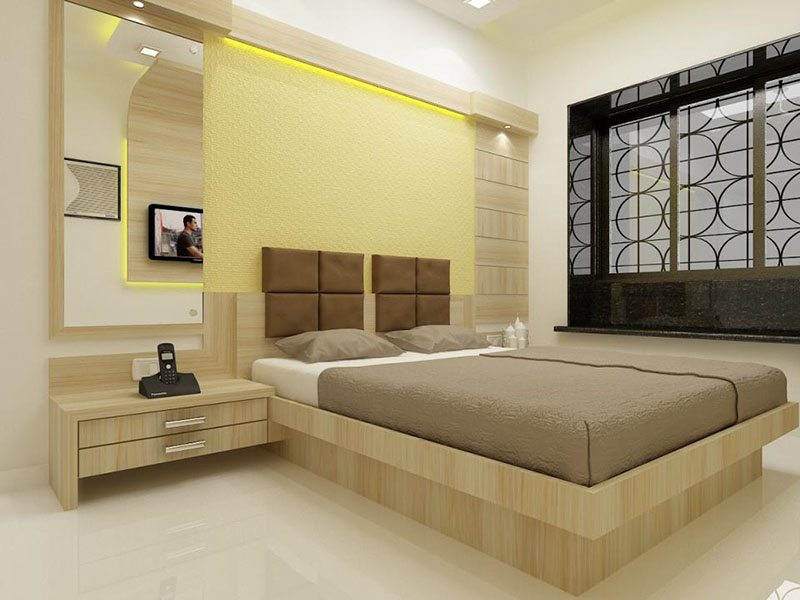 Elegant bedroom design with cool colors Designer bedrooms