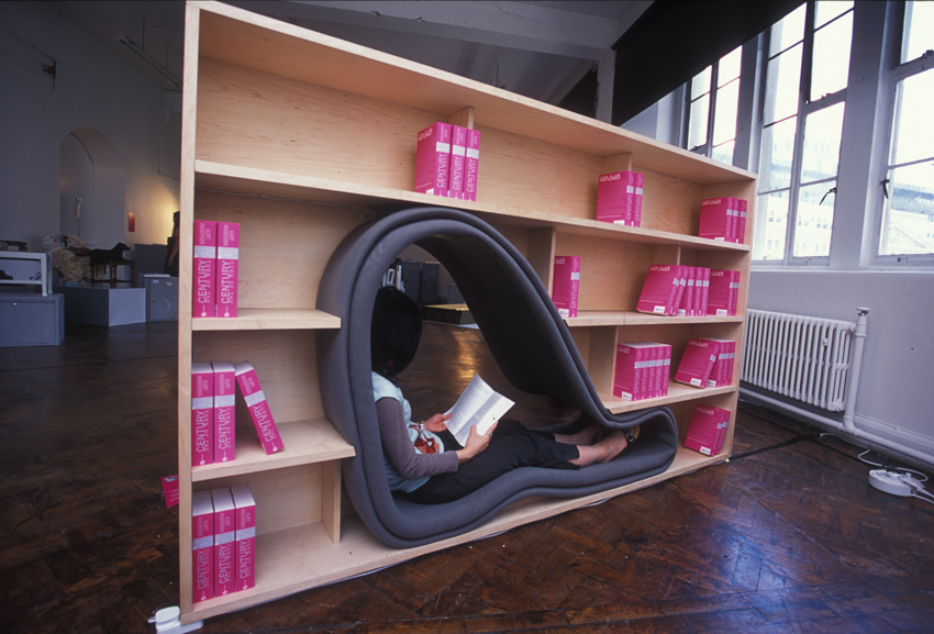 Cave Bookcase With Reading Space By Sakura Adachi