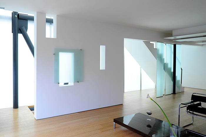 Living Room in Glass Townhouses