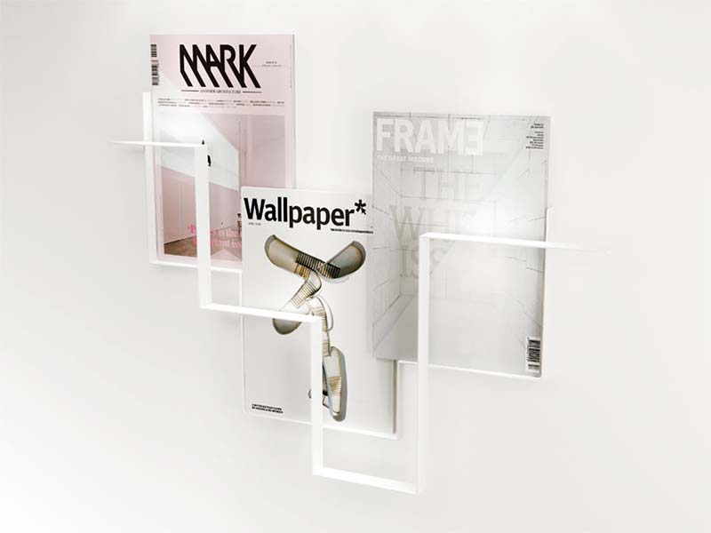 White color wall magazine holder Guidelines
