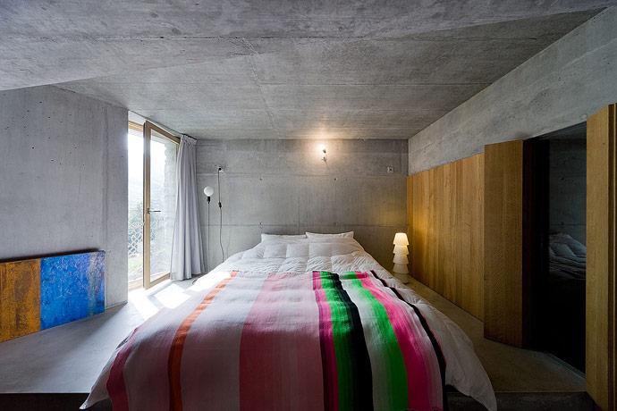 house inside a hill villa vals. Black Bedroom Furniture Sets. Home Design Ideas